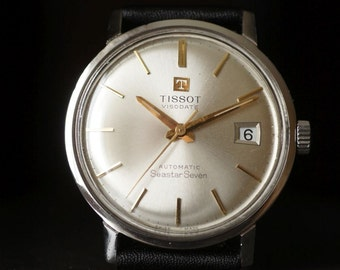 Men's vintage Tissot  Visodate Seastar Seven Automatic watch Swiss watch 1960-70's watch Retro men's watch Dress watch Gift for him