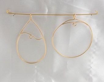 Gold & Silver Pendant Drops
