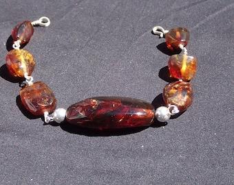 Genuine Chiapas Red Amber bracelet