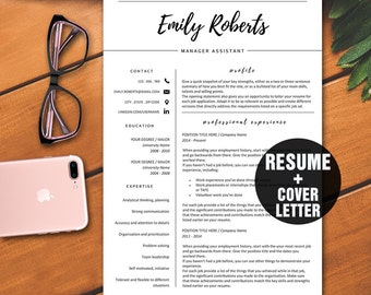 cover letter modern resume template cv template professional resume template instant download creative - Modern Resume Templates Word