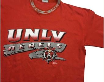 Vintage UNLV Rebels Shirt - UNLV Rebels Shirt - Vintage Rebels Tshirt - University of Nevada Las Vegas - NCAA Football - vintage unlv shirt