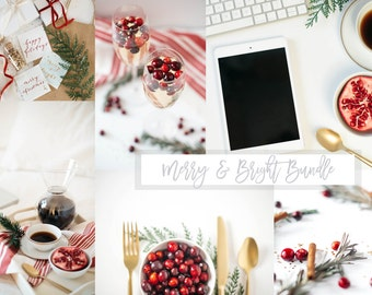 Styled Stock Photography | Merry & Bright Holiday Bundle | Christmas Stock Photography | Digital Images