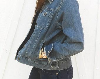 Vintage Denim Jacket By Jones New York Size Large