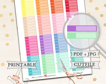 Blank Labels Stickers/Printable Planner Stickers/Printable Blank Labels/Happy Planner Stickers/Erin Condren Planner Stickers/Colorful basic
