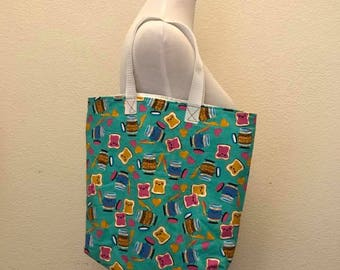 Peanut Butter and Jelly Reusable Tote Bag