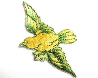 Antique Bird Applique, 1930s Vintage Embroidered Bird  applique, application, patch. Vintage patch, sewing supply.  #646GF0K17