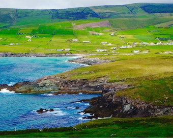 Irish Landscape Print, Ireland Photography, Large Wall Art, Fine Art Photography, Bright Colors, Gifts for Her, Gifts for Him - The Glen
