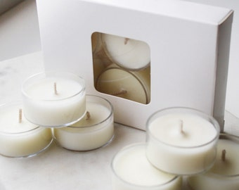 6-Pack Scented soy wax tea-lights *choose your fragrances