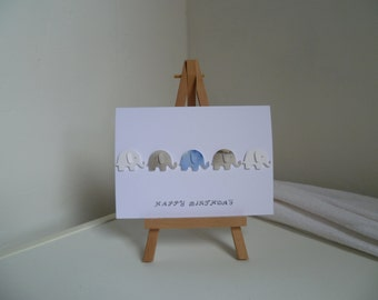 3D Elephant Card (any occasion)