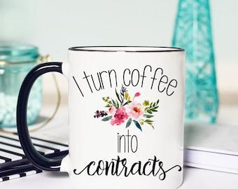 Real Estate Agent Mug, Realtor Mug, Realtor Gift, Gift for Realtor, Closing Gift, Realtor Closing Gifts, Real Estate Agent Gift, coffee mug