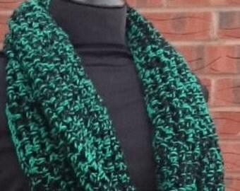 Crochet scarf, hand crochet scarf, infinity scarf, crochet scarves, circle scarf, cowl scarf, crocheted scarf, black scarf, loop scarf,