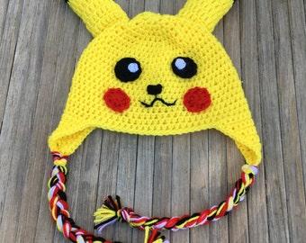 Pikachu Crochet Hat