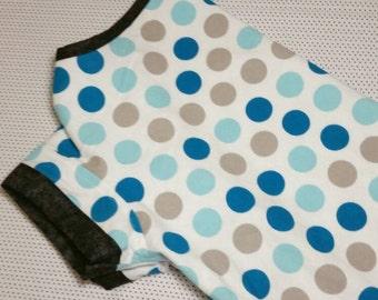 Large breed dog pajamas, flannel, polka dot, lounge wear, sleepwear, pjs - made to order, custom size - size S to XXL