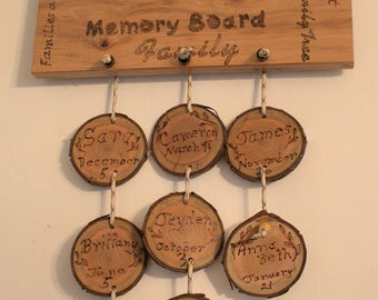 Rustic Wood Birthday Reminder Board