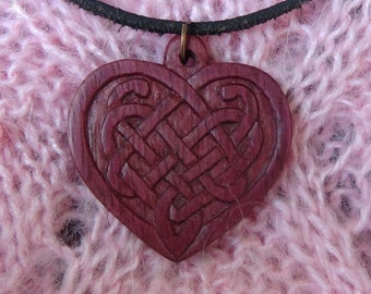 Gift for wife gift Celtic jewelry heart jewelry scandinavian celtic pendant celtic heart gift for girlfriend gift viking jewelry wooden gift