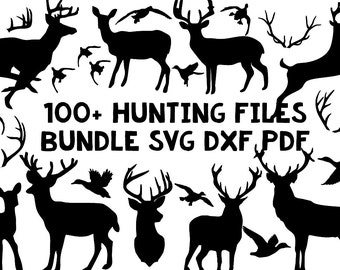 hunting deer duck bundle silhouette svg dxf file instant download silhouette cameo cricut clip art commercial use