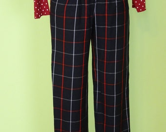 Vintage Burberry pants / wool / british classic / size S / 80s