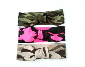 Camouflage Baby Girl Headband Camo Baby top knot headband military Headbands army baby girl headbands camo newborn july 4th girls headband