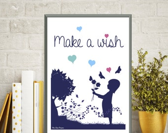Children poster, Nursery decor, Illustration children, Bedroom wall decor, Poster quote, Illustration print, Gift idea, Love gift, Art print