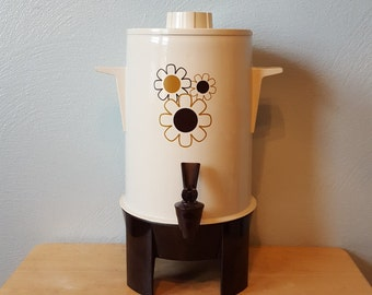 Love! IT WORKS! Regal Ware Poly Perk Automatic Percolator Urn, Adorable Daisies!