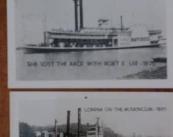 Vintage Souvenir Steamboat Pictures