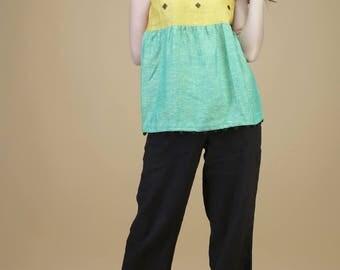 Comfy linen pant | pant, linen pant, custom pant, comfy pant, summer pant, loose pant, patch pocket, linen, linen bottom