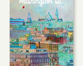 Basilica of the Immaculate Conception - Postcards from Washington DC - Howard University, U Street, Living Room Poster, Housewarming Gift