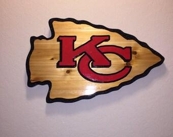 Kansas City Chiefs Wood Sign