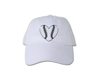 Baseball heart shaped hat