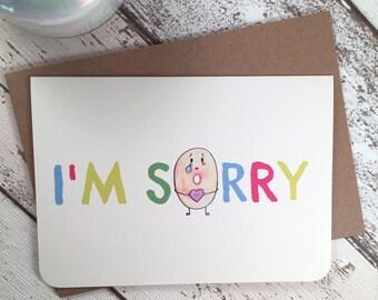 Cute I'm Sorry Card with Doughnuts