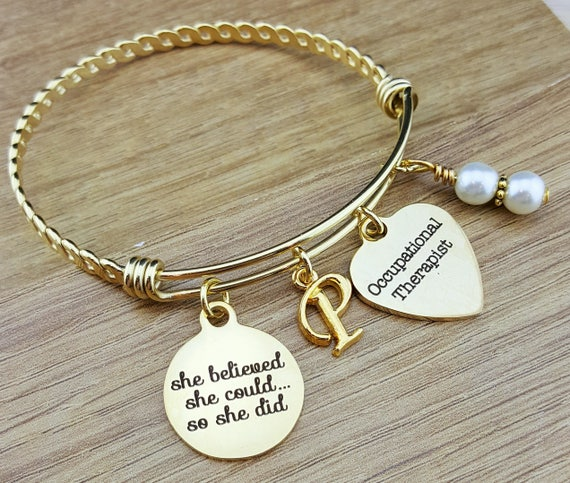 Gold Occupational Therapy Gifts Graduation Gift for Occupational Therapist Occupational Therapist Graduation Gift College Graduation Gift