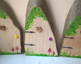 Wooden fairy door handcrafted