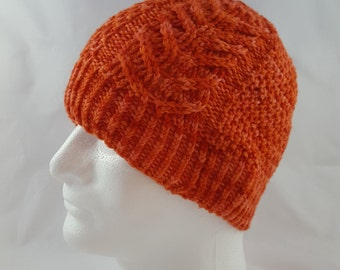 Instant download Knitting Pattern - Hat - Blue