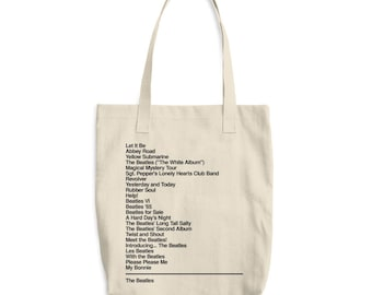 The Beatles Tote -  Beatles - Discography - Monogram tote - Beatles band - Rock band - Beatles gift - The Beatles fan - Abbey Road - Brit