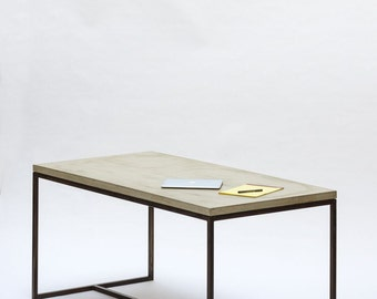 Dining table / desk - concrete and steel