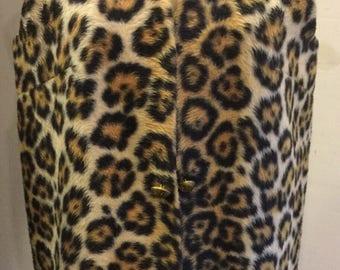 Vintage 1960's Leopard Faux Fur Vest
