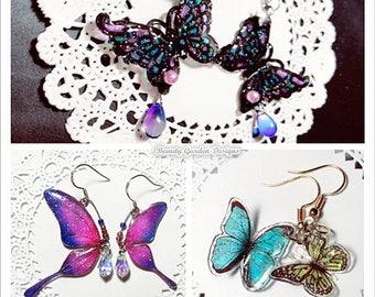 Butterfly Wing Earrings by BeautyGardenDesign Shop