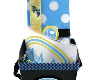 Tri-Delta/Delta Delta Delta Sorority Gift Basket - Style 2 with Headband