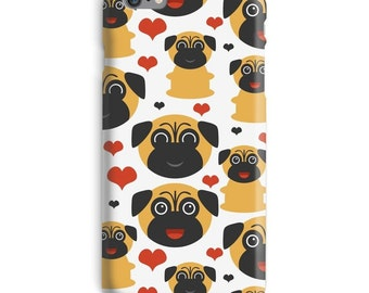 Pug iPhone Case, Dog iphone case, Pug iphone 6 case, Cute iphone 6 case, Pet iphone 6s case, Adorable iphone case