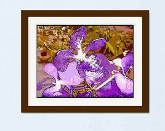 16 x 20 in. giclée - Purple Orchid
