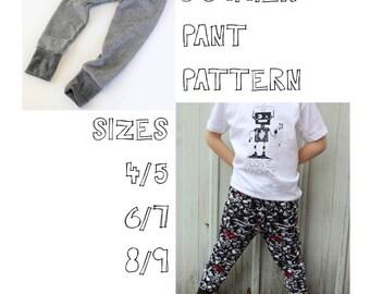 Jogger Pant Pattern, PDF Pant Pattern, Size 4-9 Youth