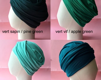Wrapped Chemo cap  in very soft jersey, 12 available colors