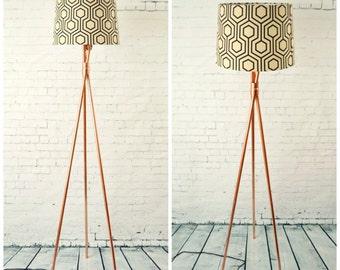 Floor Lamp - Copper Pipe Tripod Tall Standing Floor Lamp Base V2