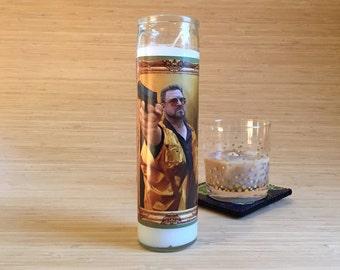 Big Lebowski Walter Celebrity Prayer Candle - Movie Decor - Humor - Parody Art - 7 Day Candle