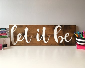 let it be | let it be sign | gallery wall decor | beatles sign