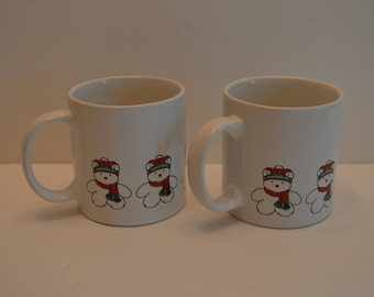 Two 1986 SANTABEAR Coffee Cups