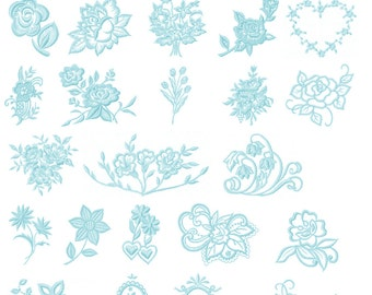 Lace Embroidery Designs Pack / Set - 32 Designs