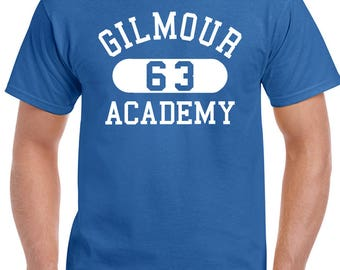 Gilmour Academy Mens Music T-Shirt As Worn By Dave Glimour From Pink Floyd