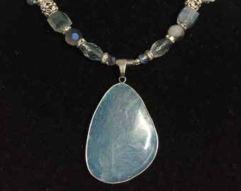 Auqua Blue Statement Necklace