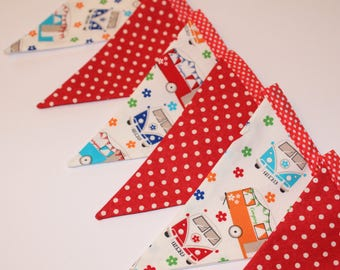Campervan Bunting, Campervan theme, Party Bunting, Party Banner, Party Decor, VW campervan inspired, VW bus inspired